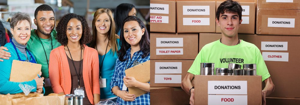 Wish list for organizations, charities and non-profits, and the needed donations and contributions from drive or fundraising event